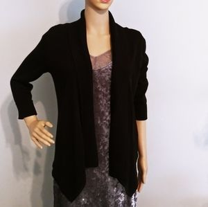 WHBM Drapey coverup cardigan open black sweater